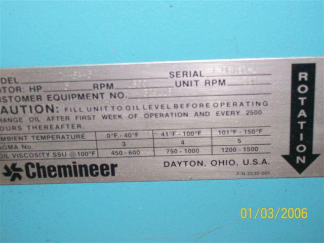 Image CHEMINEER Mixer - Never Used 321222