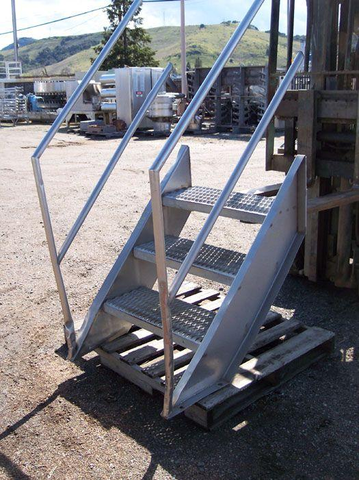 "Image Stainless Steel Stairs - 30"" High 321516"