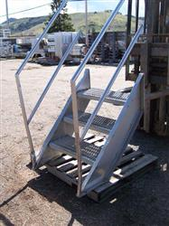 """Image Stainless Steel Stairs - 30"""" High 321516"""