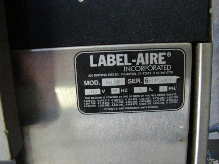 Image LABEL-AIRE 2115ST Pressure Sensitive Labeler 321822