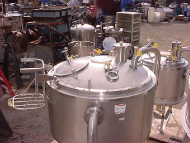 Image 185 Gallon INOX Nickle Alloy Jacketed Tank - UNUSED, Stainless Steel 321935