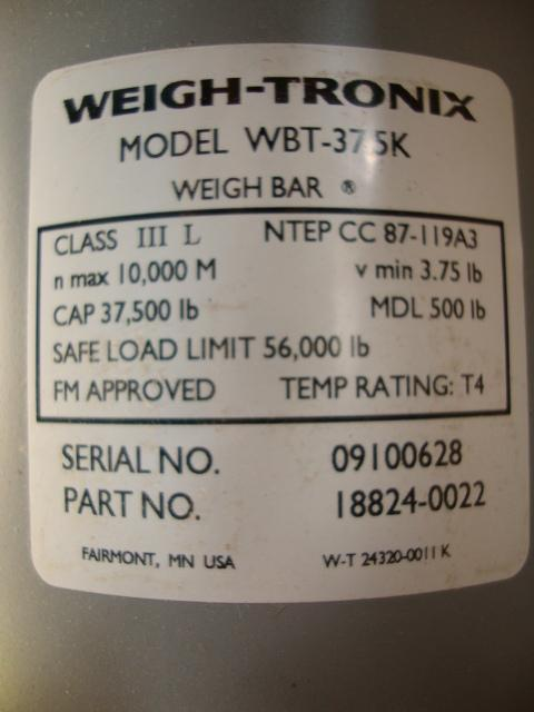 Image WEIGH-TRONIX WBT-37 SK Balance Cell 322176