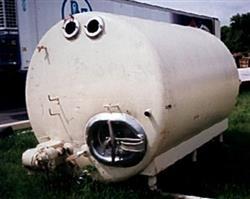Image 1500 Gal Horiz. S/S Refrigerated Dairy Tank 322293