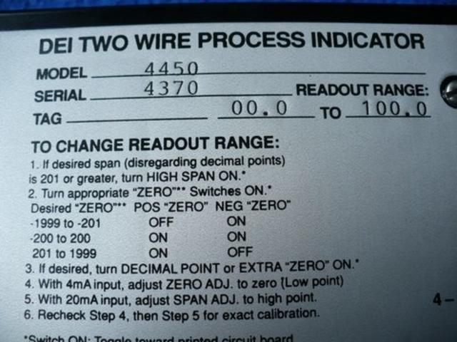 Image DEI Two-Wire Process Indicator 323377
