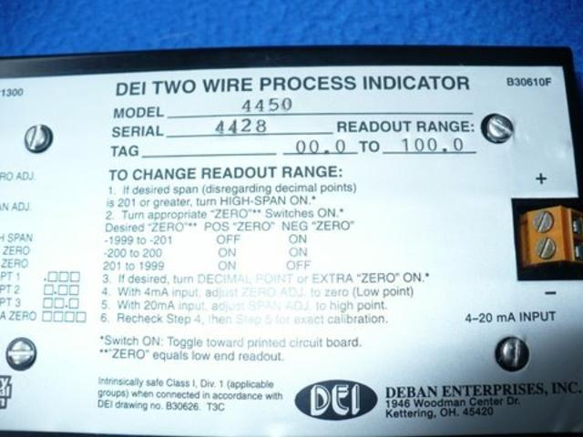 Image DEI Two-Wire Process Indicator 323378
