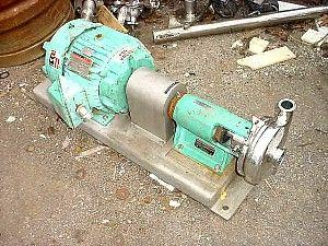 "Image TRI-CLOVER Stainless Steel Centrifugal Pump, 2"" x 1.5"" 323627"