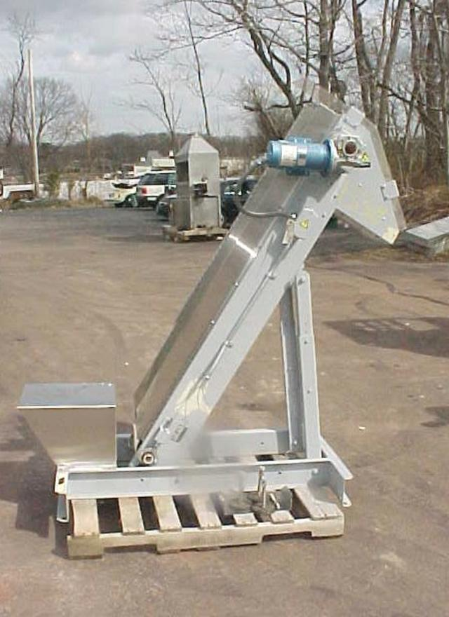 HOPPMANN EP08/08 Inclined Cleated Belt Conveyor