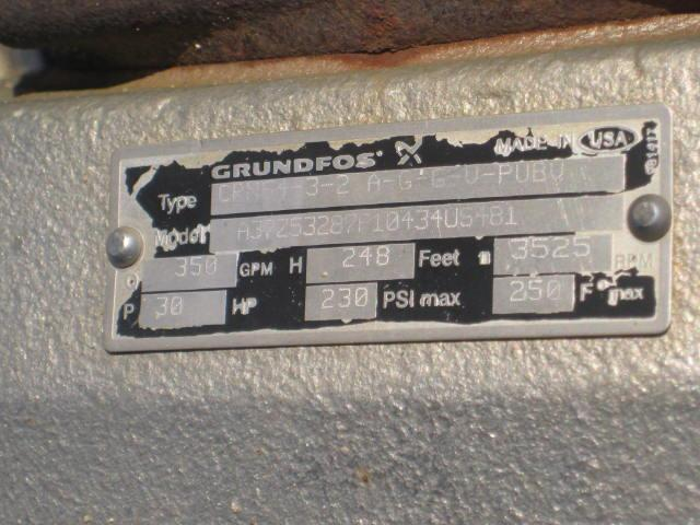 """Image GRUNDFOS Vertical Multistage Pump, 4"""" x 4"""" 899541"""