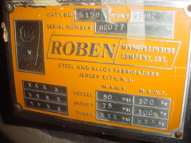 Image 60 Gallon ROBEN 316 Stainless Steel Reactor 852432