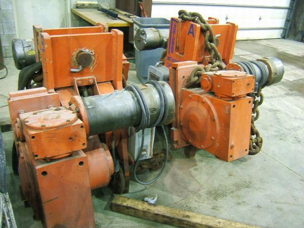 55 Ton POSI-TURNER Hoist w/Chain (Lot of 2)