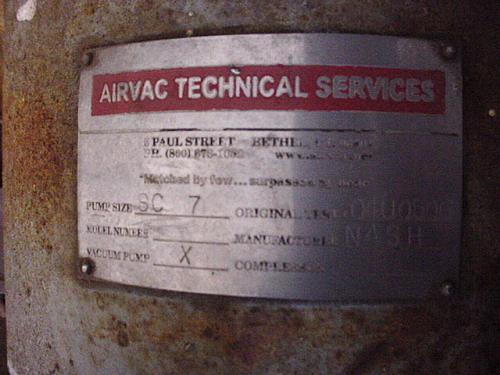 Image 100 HP NASH SC7 Carbon Steel Liquid Ring Vacuum Pump 515671