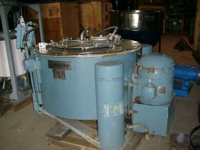 "Image 40"" SANBORN S/S Basket/Batch Type Centrifuge 324933"