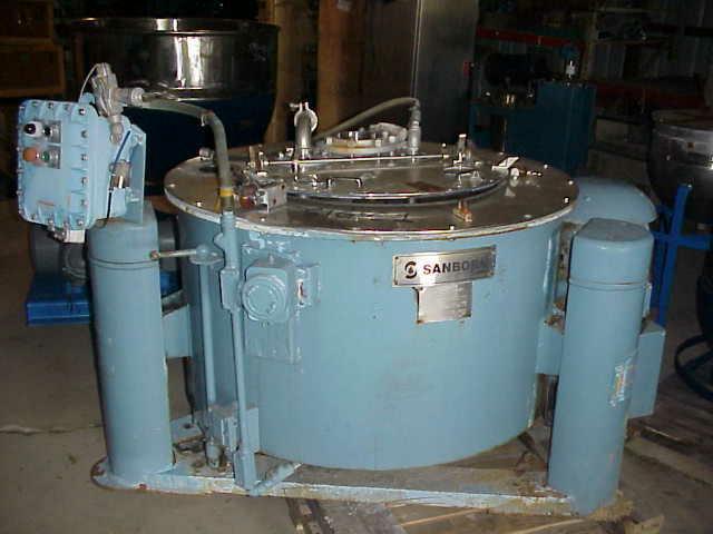 "Image 40"" SANBORN S/S Basket/Batch Type Centrifuge 324934"