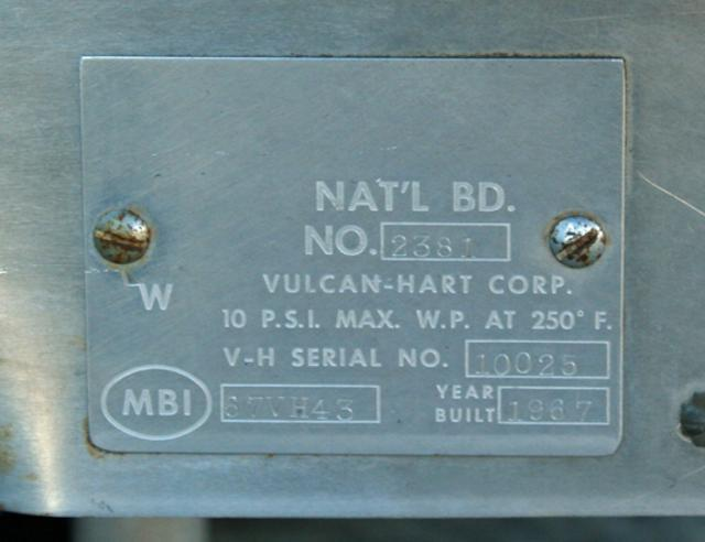 Image 20 Gal VULCAN HART Model SS-20 Process Kettle 325110