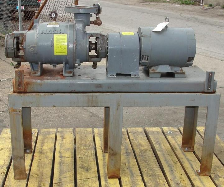 10 HP NASH C/S Liquid Ring Vacuum Pump, 76 cfm