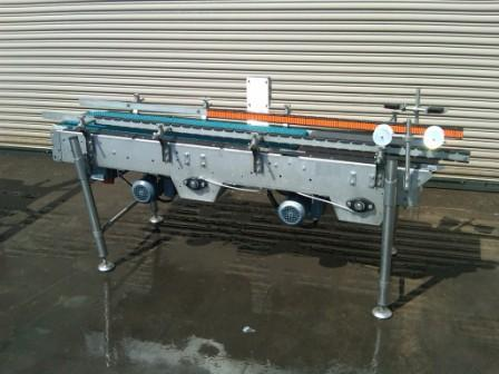 "14"" x 80"" L Stainless Case Metering Conveyor"