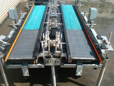 "Image 14"" x 80""L Stainless Case Metering Conveyor 325471"