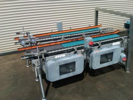 "Image 14"" x 80""L Stainless Case Metering Conveyor 325472"