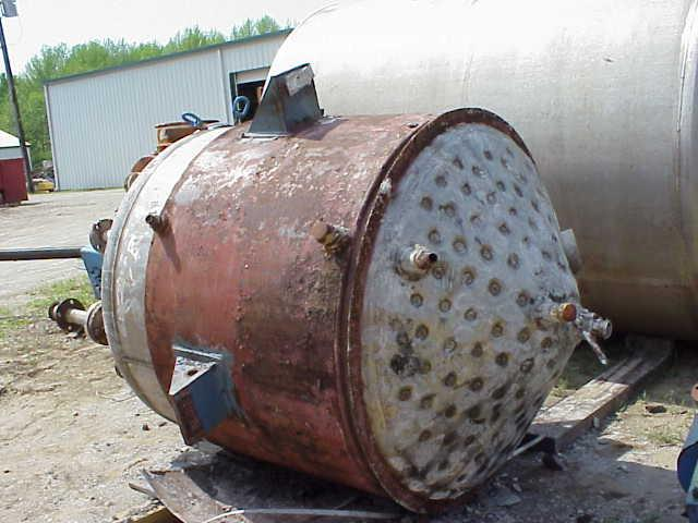 Image 500 Gallon Stainless Steel Cone Bottom Reactor 325474