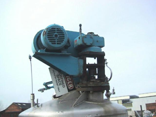 Image 750 Gallon MUELLER Reactor, Stainless 325525