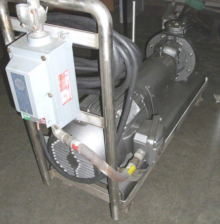 "Image 1-1/2"" x 1"" DURCO S/S Pump w/XP, 10HP Motor 325980"