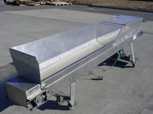 "9"" W x 108"" L Stainless Ribbed Belt Conveyor"