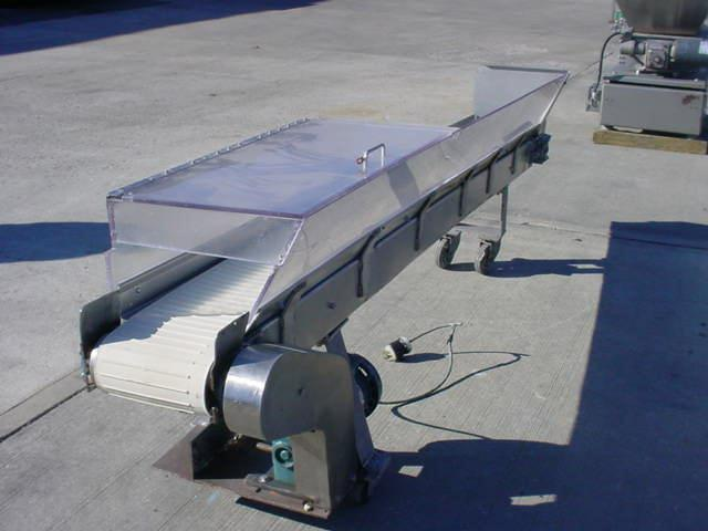"Image 9"" W x 108"" L Stainless Ribbed Belt Conveyor 326297"