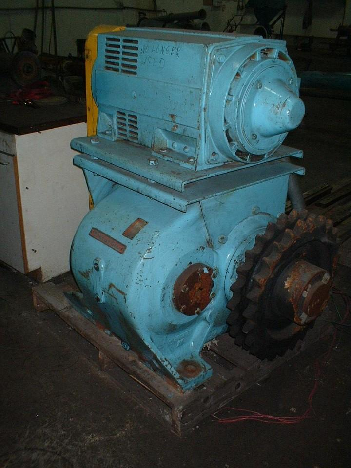 25 HP Motor w/NUTALL Gear Reducer: Output 16 RPM