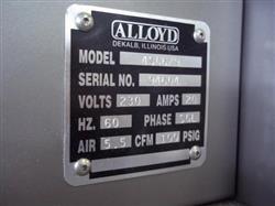 Image ALLOYD 4-Station Model 4SC 6/9 Blister Machine 326761