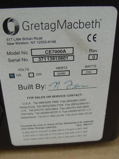 Image XRITE Gretag MacBeth CE7000A Spectrophotometer 327475