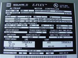 Image SQUARE D E-Flex Altivar 5HP Speed Control Unused 327788