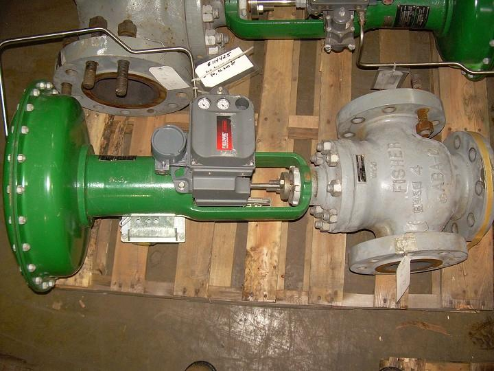 "4"" FISHER 3-Way Valve with Actuator"
