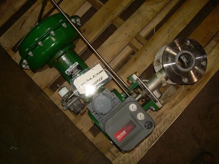 "3"" FISHER Eccentric Plug Valve with Actuator"