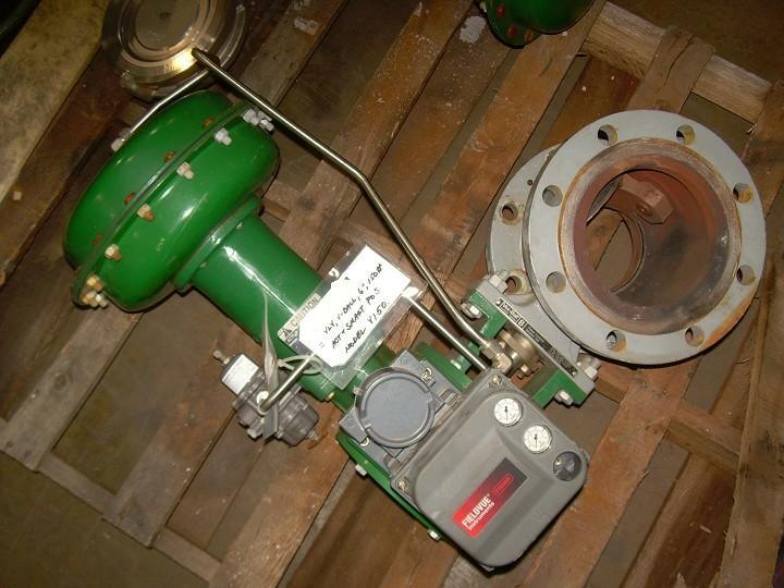 "6"" FISHER Segmented V-Ball Valve with Actuator"