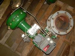 """Image 6"""" FISHER Segmented V-Ball Valve with Actuator 328217"""