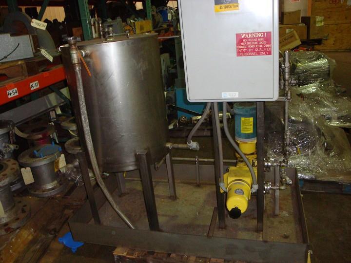 MILTON ROY Chem Feed System, 12 GPH @ 100 PSIG