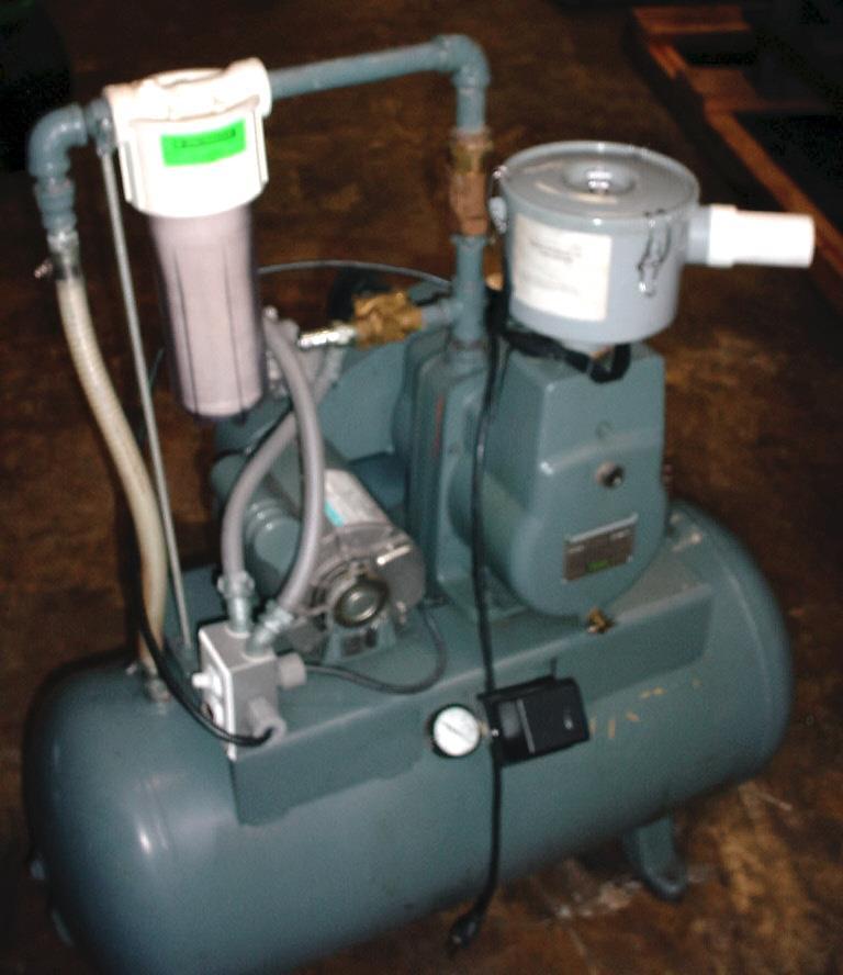 Image 1 HP HYVAC Tank Mounted Vacuum Pump 751634