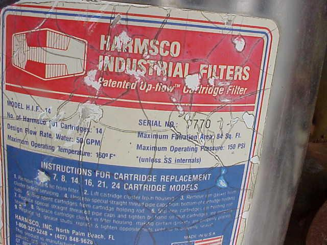 Image HARMSCO Model HIF14 Cartridge Filter 84 sq.ft 329441