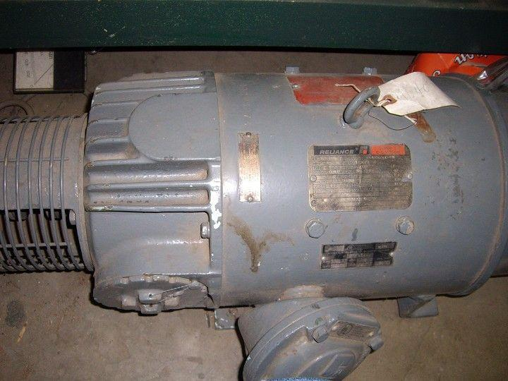 "3 HP RELIANCE ""Super T"" DC Motor"