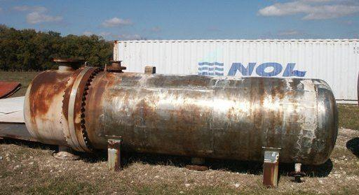 2000 sf 316L Stainless Steel U-Tube Exchanger