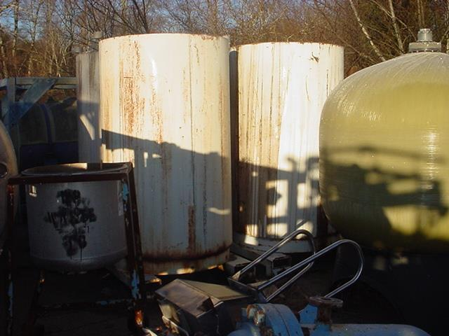 Image 450 Gallon FABRICATED METALS Stainless Steel Tote Tank 746186