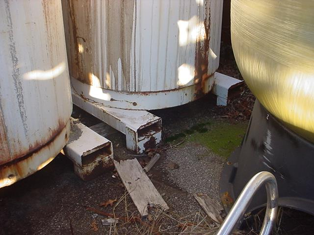 Image 450 Gallon FABRICATED METALS Stainless Steel Tote Tank 746187