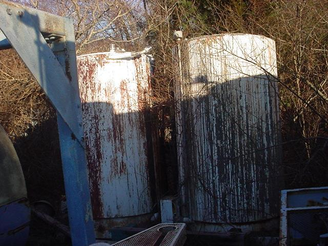 Image 450 Gallon FABRICATED METALS Stainless Steel Tote Tank 746189