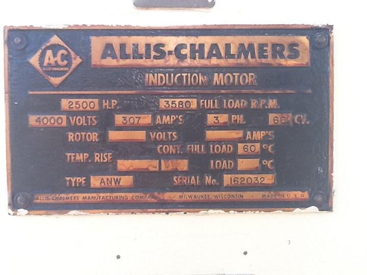 2500 Hp Allis Chalmers 116242 For Sale Used N A