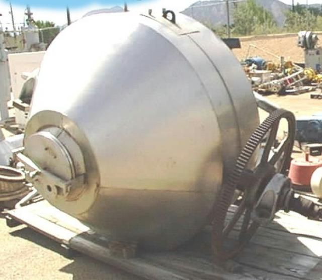 40 cf. ABBE S/S Double Cone Jacketed Dryer/Mixer