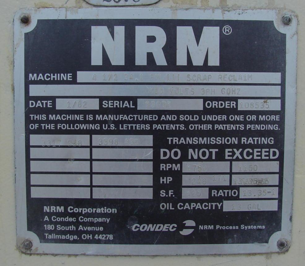 Image NRM Pacemaker III Plastic Extruder 494984