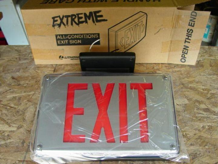 LITHONIA Extreme Fire Exit Signs (10) 56 avail