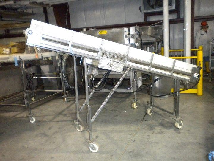 Incline Stainless Hydraulic Cleated Conveyor