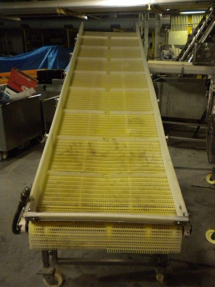 Image Incline Stainless Hydraulic Cleated Conveyor 334170