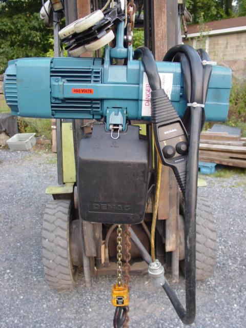 DEMAG Model DKUN5-500KV1F4 Hoist, Cap.1000 lbs
